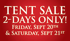 Save BIG on Flooring during our Tent Sale September 20th & 21st at Brothers Flooring in Rock Falls!