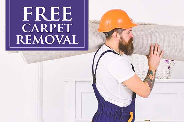Free Carpet Removal! this month at Brothers Flooring!